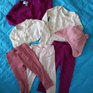18-24 month Baby girl clothes 7 pieces
